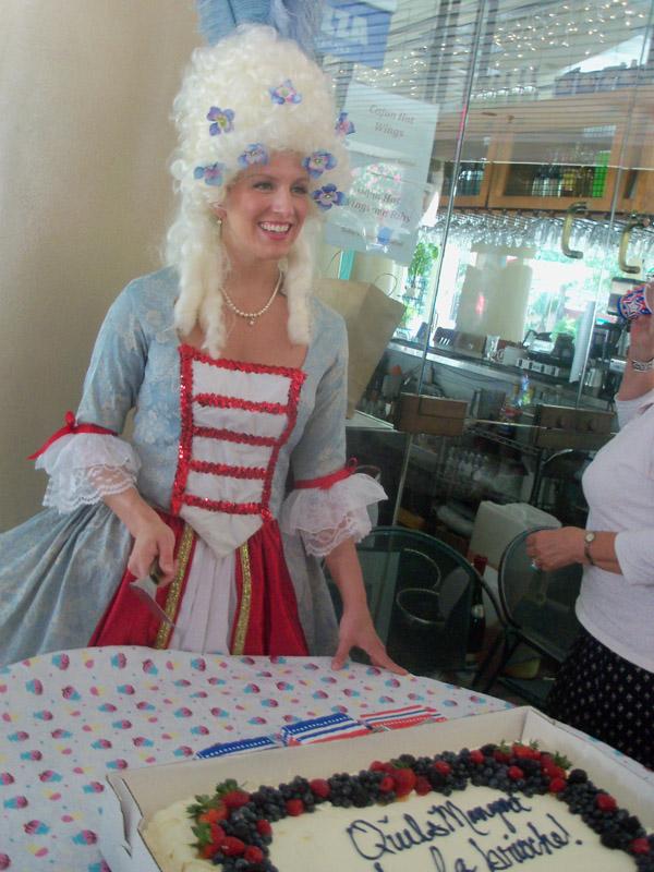Marie Antoinette serves cake