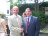 Hon. M. Oliver Brochenin, the consul general of France & Joe Amato, Director of International School