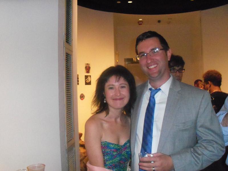 Curator Miranda Lash and hubby James Mulvihill