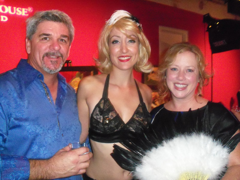 Keith and Kimberly Zibilich flank Trixie Minx