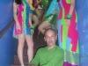 Designer John Joseph Delgadillo and his models