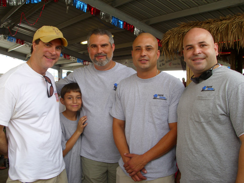 Ewell Smith with Jay Kershenstine, son Cade, Adam Kershenstine and Mario Breazeale of Coastal Shoring