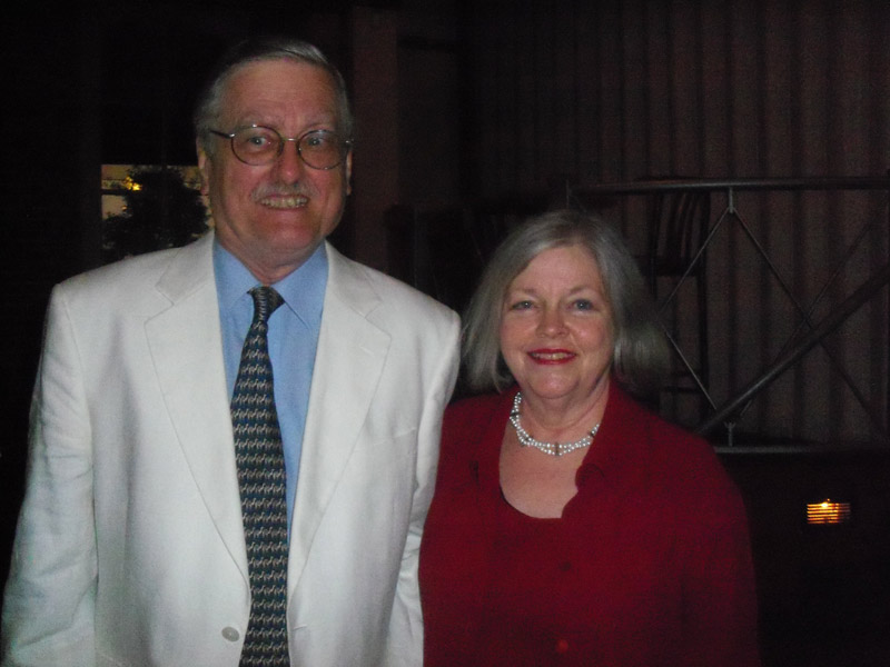 George Schmidt with Patricia Gay, Director of PRC