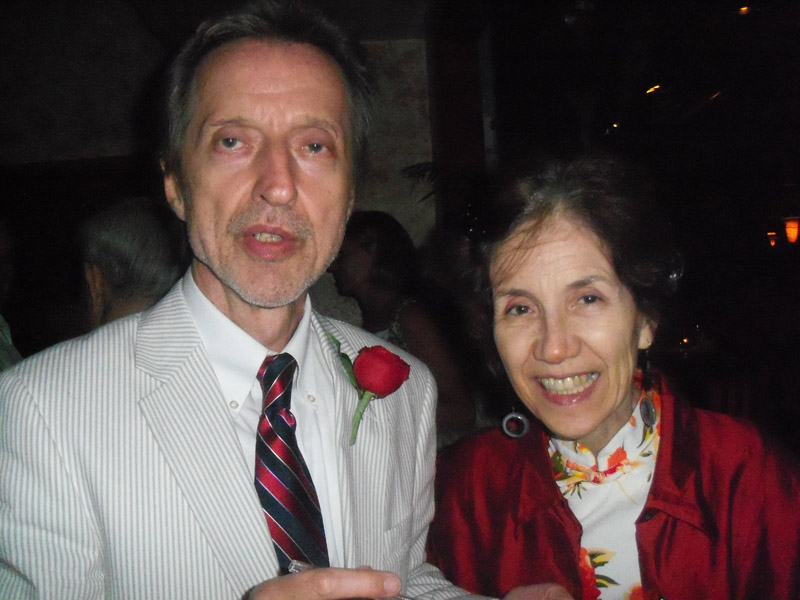 Honoree Albinas Pritgintas and his wife Mamon