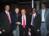 Honorees Dr. Michael White, Clive Wilson, Lionel Ferbos, Gregory Davis and George French