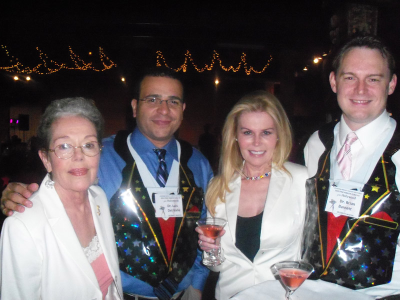 honorees-madelyn-miller-and-dr-maitland-de-land-with-drs-luis-del-valle-and-brian-banette