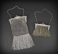 German Silver Metal Mesh Bags ca 1900