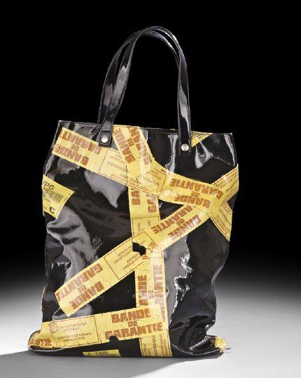 Jean Paul Gaultier Black Patent Tote Bag